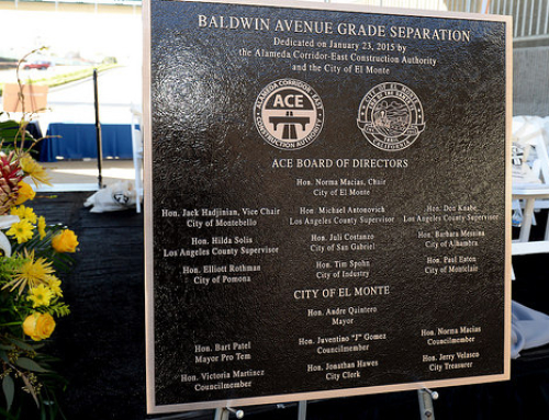 Celebrated Alameda Corridor East, Baldwin Ave. Grade Separation, City of El Monte