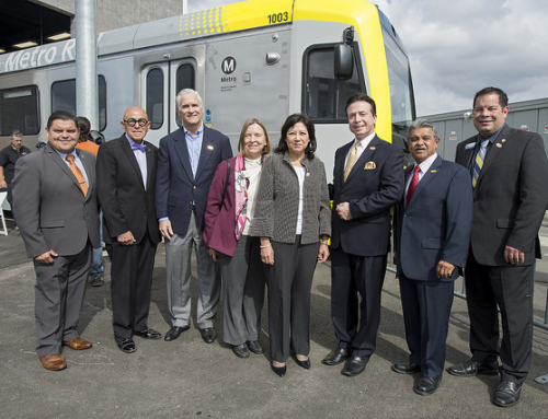 Lauded the groundbreaking of the Foothill Gold Line extension