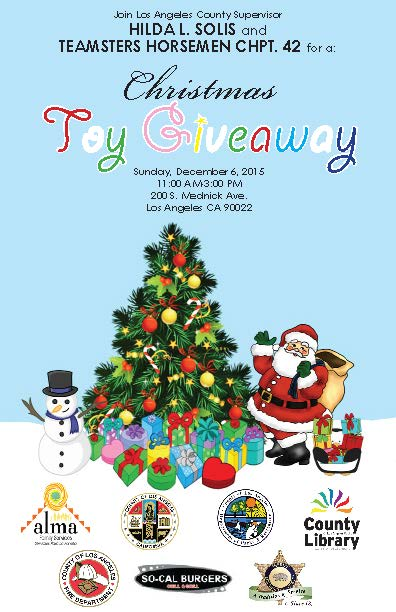 Toy giveaways for christmas los angeles