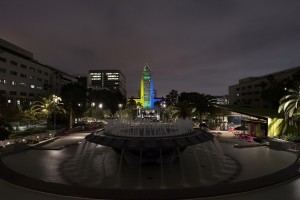 Chair of the LA County Board of Supervisors Hilda L. Solis ordered the fountain at Grand Park go dark to honor those killed in the Orlando shooting