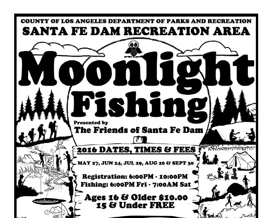 Moonlight fishing at the santa fe dam supervisor hilda l for Santa fe dam fishing