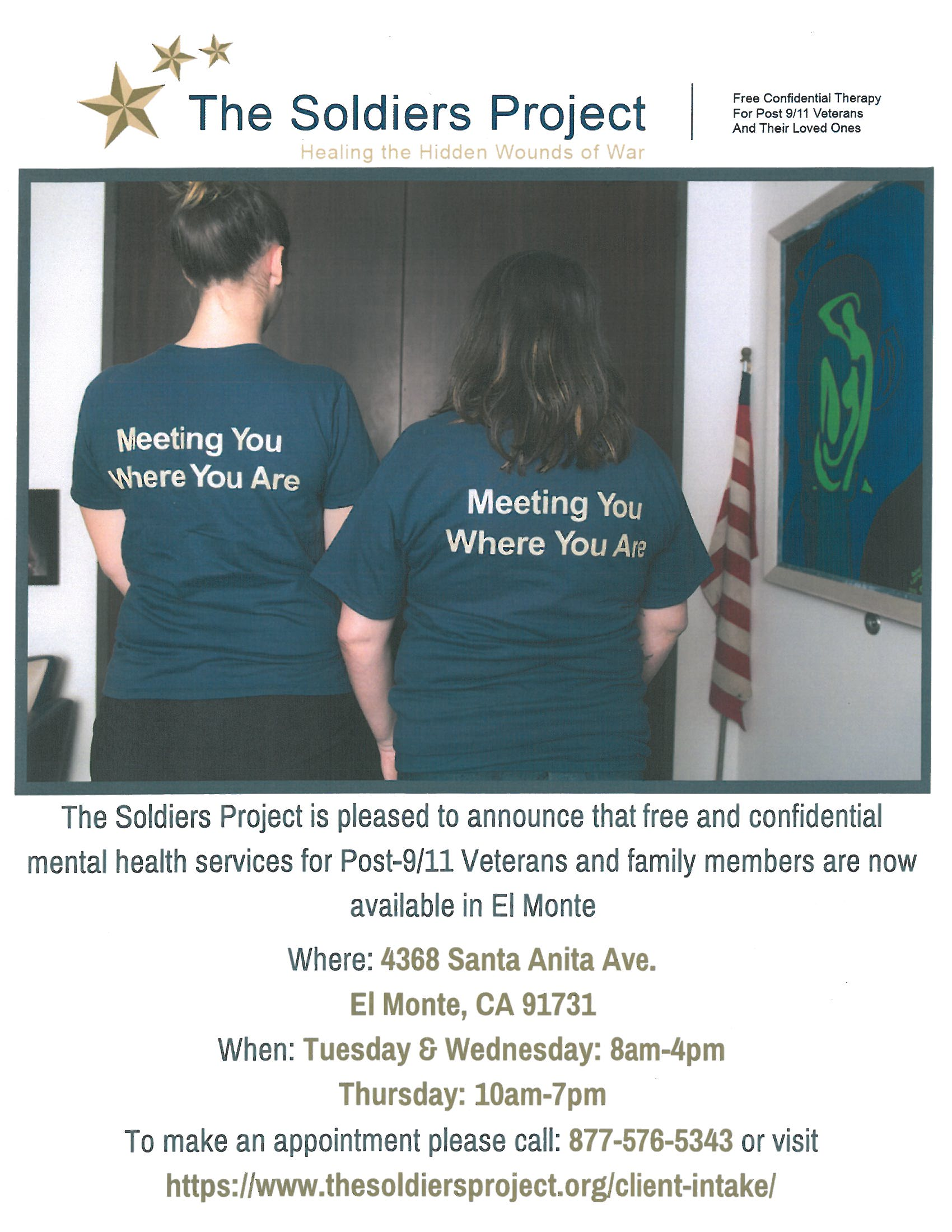 The Soldiers Project In El Monte Supervisor Hilda L Solis
