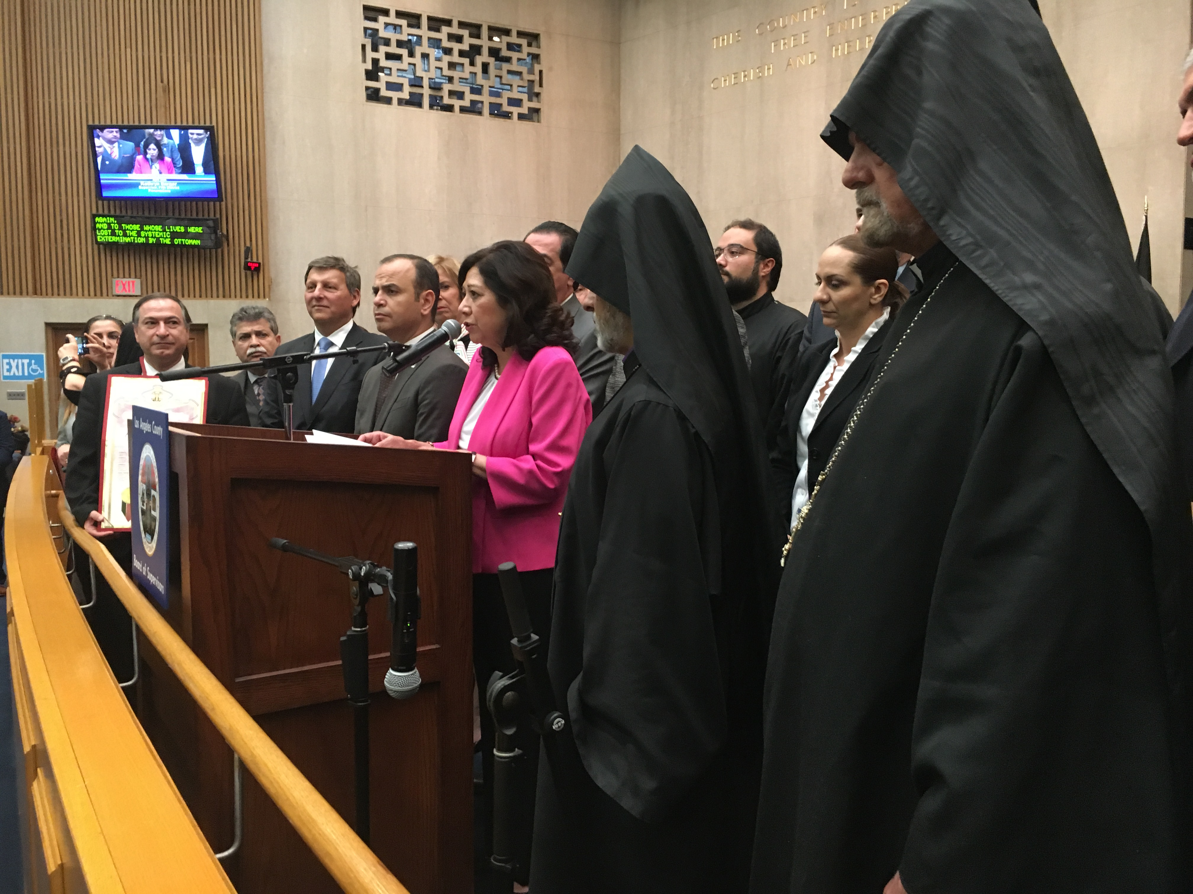 Supervisor Hilda L. Solis Proclaims Armenian Genocide Remembrance Day in LA County
