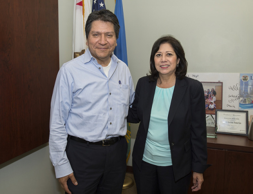 Discussed community health issues with Dr. Hector Flores, chairman of the Family Practice Department at White Memorial Medical Center.