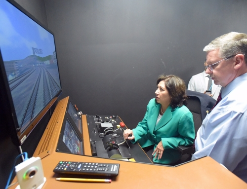 Metrolink Chief Executive Officer, Art Leahy provides Supervisor Solis an inside look to their state of the art rail system