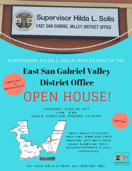 East San Gabriel Valley District Office Open House Supervisor