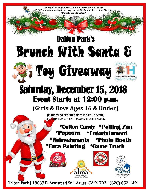Christmas Giveaway Flyer.Dalton Park S Brunch With Santa Toy Giveaway Supervisor