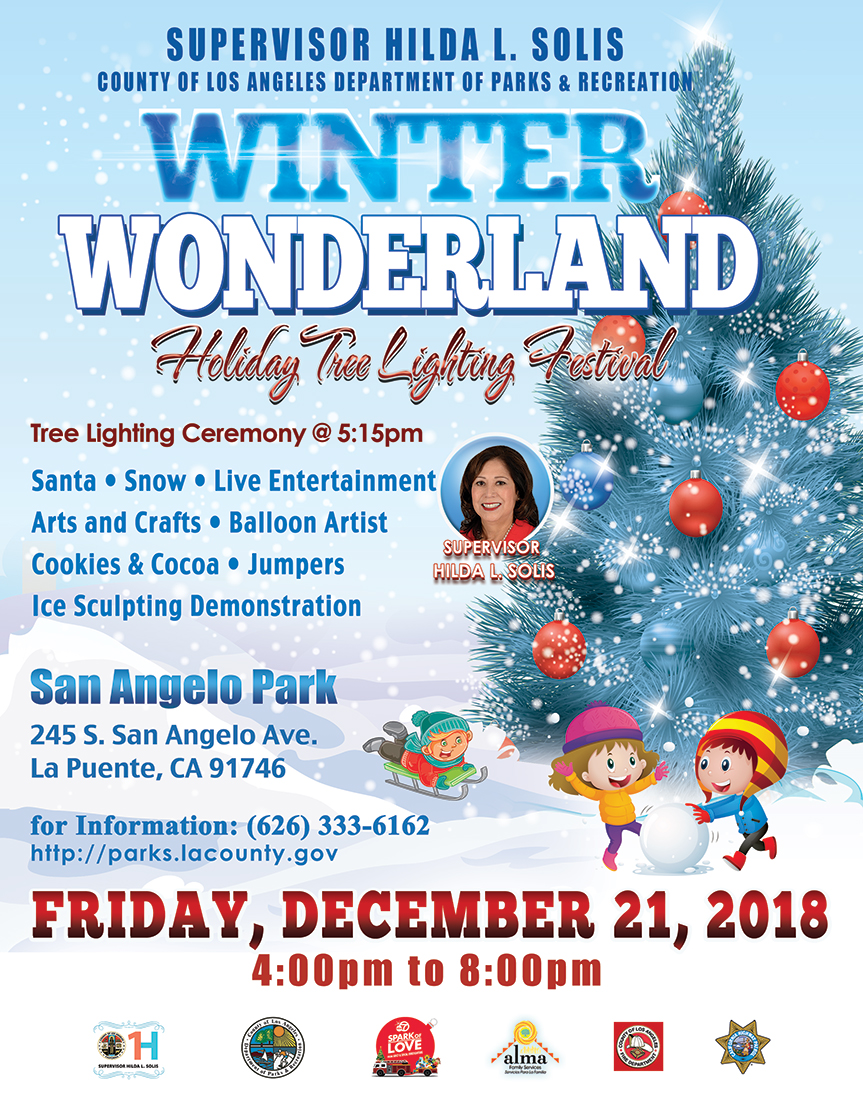 San Gabriel Valley Winter Wonderland Supervisor Hilda L Solis
